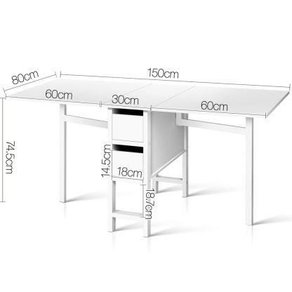 Artiss Gateleg Dining Table