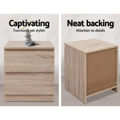 Artiss Bedside Tables Drawers Side Table Bedroom Furniture Nightstand Wood Lamp
