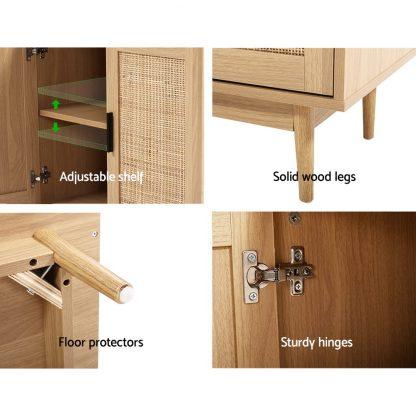 Artiss Rattan Buffet Sideboard Cabinet Storage Hallway Table Kitchen Cupboard