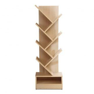 Artiss Display Shelf 7-Shelf Tree Bookshelf Book Storage Rack Bookcase Natural