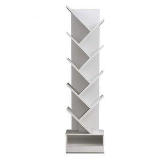 Artiss Display Shelf 9-Shelf Tree Bookshelf Book Storage Rack Bookcase White