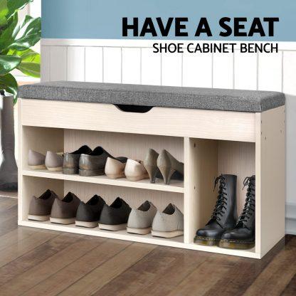 Artiss Wooden Shoe Organiser - Natural