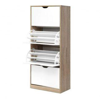 Artiss 48 Pairs Shoe Cabinet Rack Organiser Storage Shelf Wooden