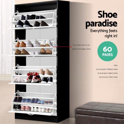 Artiss Wooden Shoe Cabinet