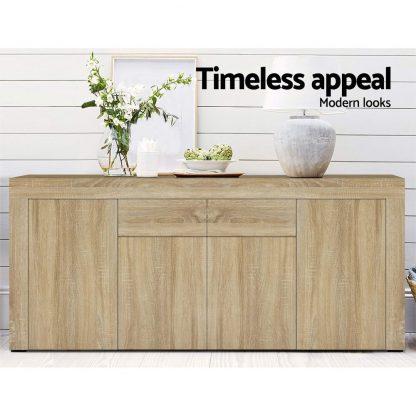 Artiss Buffet Sideboard Cabinet Storage 4 Doors Cupboard Hall Wood Hallway Table