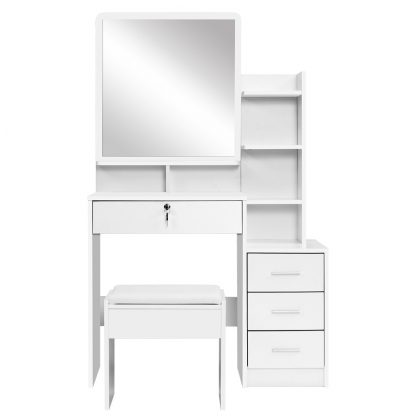 Artiss Dressing Table Mirror Stool Jewellery Cabinet Makeup Organizer Drawer