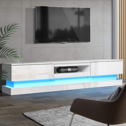 Artiss TV Cabinet Entertainment Unit Stand Storage RGB LED 180cm Display Shlef