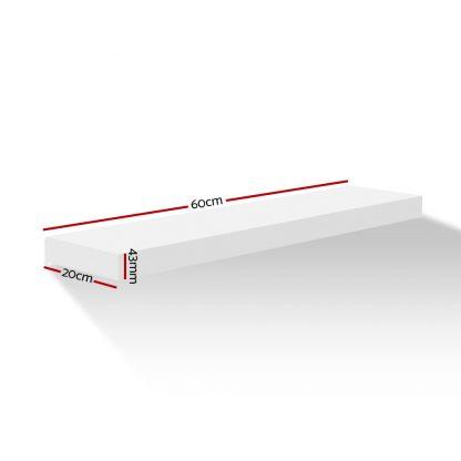 Artiss Wall Floating Shelf Set DIY Mount Storage Book Display Rack 1pc 60cm White