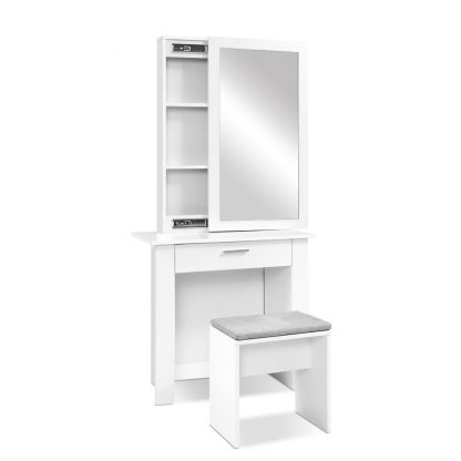 Artiss Dressing Table Mirror Stool Mirror Jewellery Cabinet Makeup Storage Desk