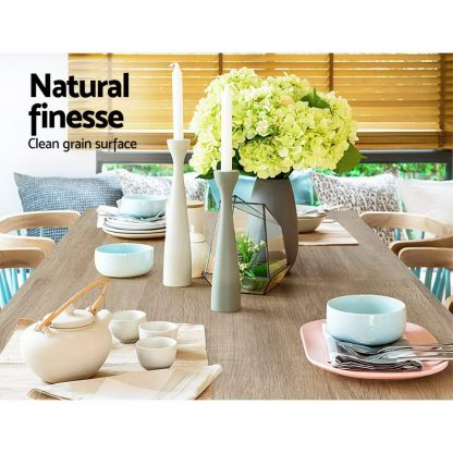Artiss Dining Table 4 Seater Wooden Kitchen Tables Oak 120cm Cafe Restaurant