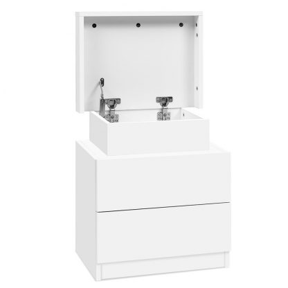 Artiss Bedside Tables 2 Drawers Side Table Storage Nightstand White Bedroom Wood