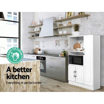 Artiss Buffet Sideboard Cabinet Storage Cupboard Doors White Kitchen Hallway