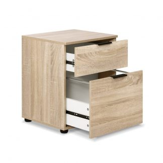 2 Drawer Filing Cabinet Office Shelves Storage Drawers Cupboard Wood File Home