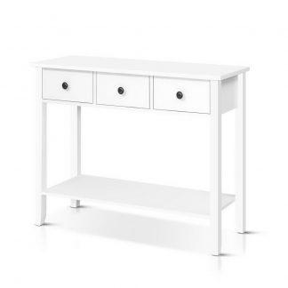 Hallway Console Table Hall Side Entry 3 Drawers Display White Desk Furniture