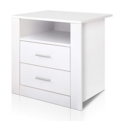 Artiss Bedside Tables Drawers Storage Cabinet Drawers Side Table White