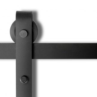 4M Sliding Barn Door Hardware - Black