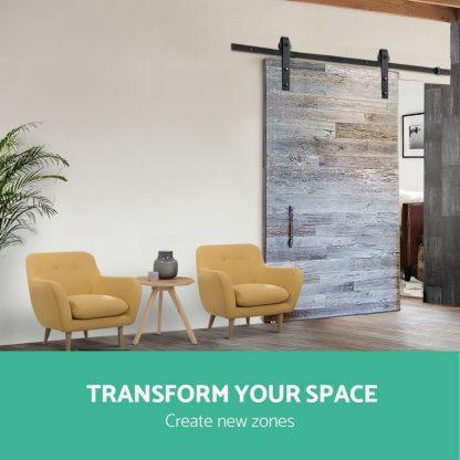 4M Sliding Barn Door Hardware Track Set Home Office Bedroom Interior Closet