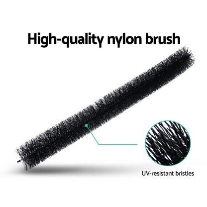 18 Pcs Gutter Brush Guard 100mm X 16.5m Length Leaf Twigs Filter Home Garden