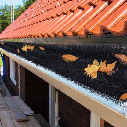 48 Pcs Gutter Brush Guard 92cm X 10cm Length Leaf Twigs Filter Home Garden