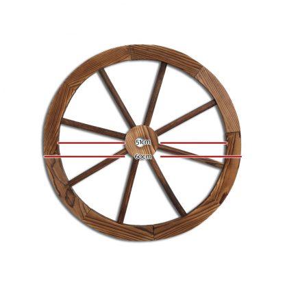 Gardeon Wooden Wagon Wheel X2