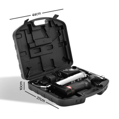 Giantz 12V Rechargeable Cordless Grease Gun - Black