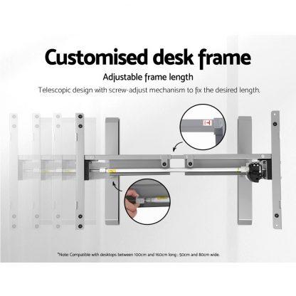 Artiss Standing Desk Sit Stand Riser Height Adjustable Motorised Frame Only Grey