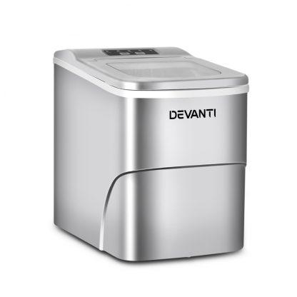Devanti Portable Ice Cube Maker - Silver