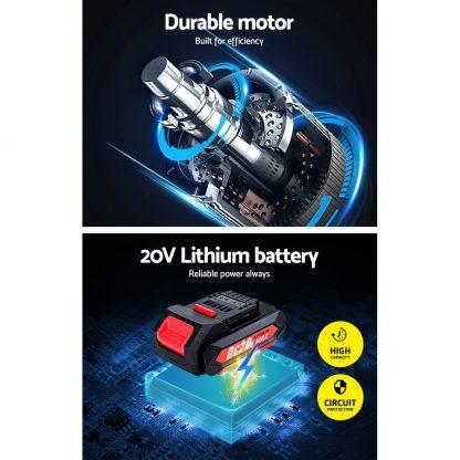 GIANTZ Cordless Impact Wrench 20V Lithium-Ion Battery Rattle Gun Sockets