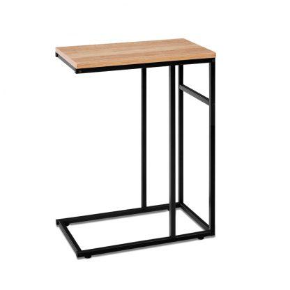 Artiss Coffee Side Table Laptop Desk Bedside Sofa End Tables Wooden Metal Frame
