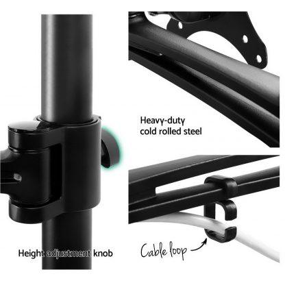 Adjustable Monitor Arm Desk Mounted - Black