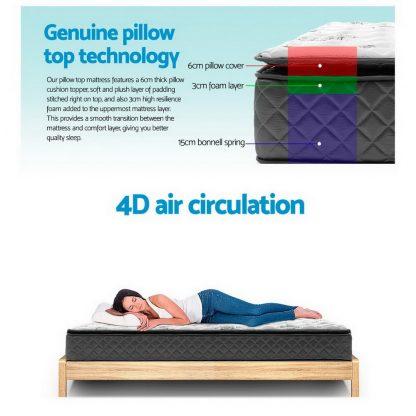 Giselle Bedding Single Size Pillow Top Foam Mattress