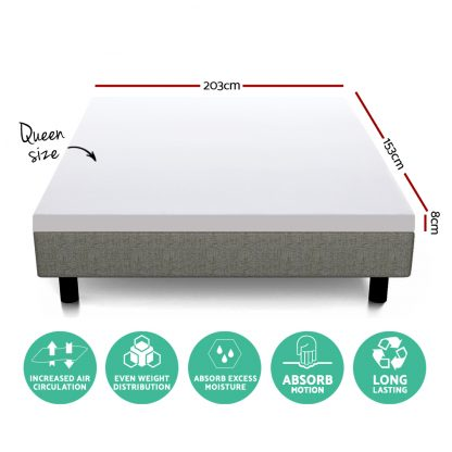 Giselle Bedding Queen Size Dual Layer Cool Gel Memory Foam