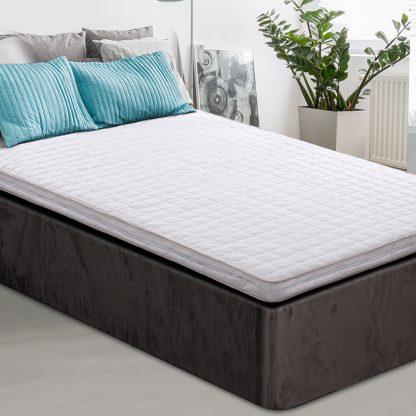 Giselle Bedding Memory Foam Mattress Topper Bed Underlay Cover King Single 7cm