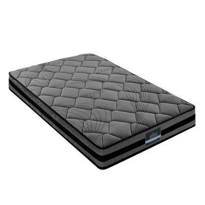 Giselle Bedding King Single Size Mattress Bed Medium Firm Foam Pocket Spring 22cm Grey