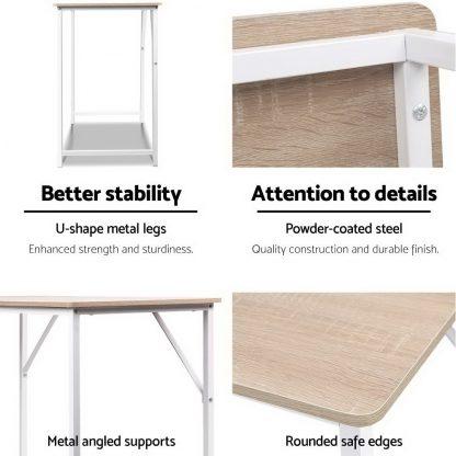 Artiss Minimalist Metal Desk - White