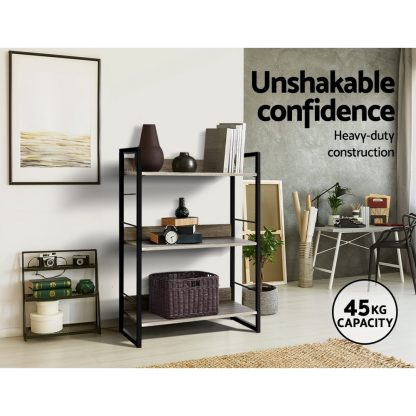 Artiss Bookshelf Display Shelves Wooden Book Shelf Wall Corner Bookcase Storage