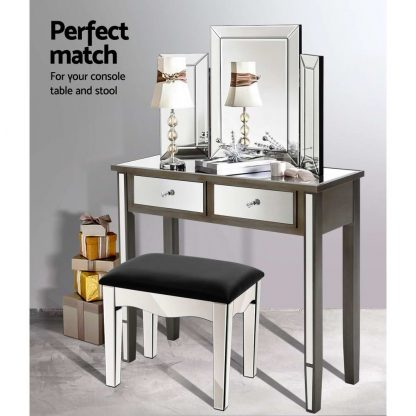 Artiss Mirrored Furniture Dressing Table Dresser Mirror Stool Chest of Drawers