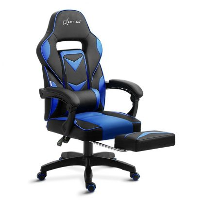 Artiss Office Chair Computer Desk Gaming Chair Study Home Work Recliner Black Blue