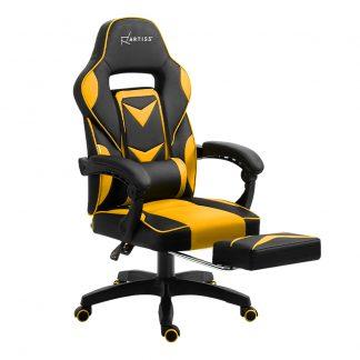 Artiss Office Chair Computer Desk Gaming Chair Study Home Work Recliner Black Yellow