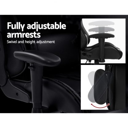 Artiss Gaming Office Chair Computer Chairs Leather Seat Racer Racing Meeting Chair Black
