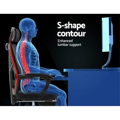 Artiss Gaming Office Chair Computer Desk Chair Home Work Recliner Black
