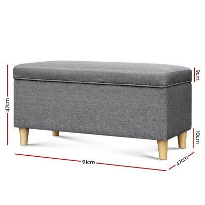 Keezi Storage Ottoman Kids Foot Stool Blanket Box Toy Sofa Chair Bed Fabric GY