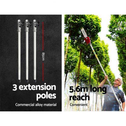 Giantz 4 Stroke Pole Chainsaw Petrol Chain Saw Brush Cutter Brushcutter Tree