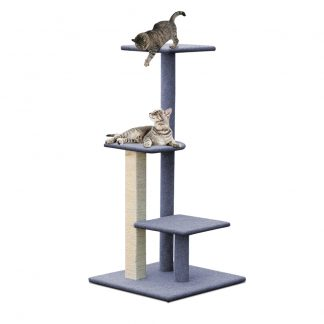 i.Pet Cat Tree 124cm Trees Scratching Post Scratcher Tower Condo House Furniture Wood Steps