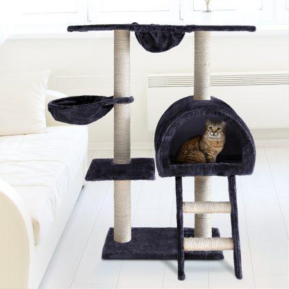 i.Pet Cat Tree 100cm Trees Scratching Post Scratcher Tower Condo House Furniture Wood Feline