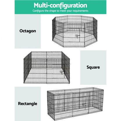 """i.Pet 30"""" 8 Panel Pet Dog Playpen Puppy Exercise Cage Enclosure Play Pen Fence"""