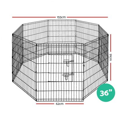"""i.Pet 36"""" 8 Panel Pet Dog Playpen Puppy Exercise Cage Enclosure Play Pen Fence"""