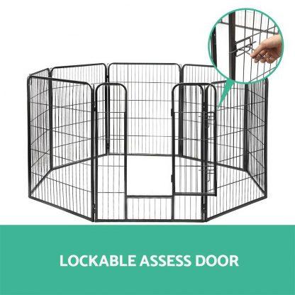 i.Pet 8 Panel Pet Dog Playpen Puppy Exercise Cage Enclosure Fence Play Pen 80x100cm