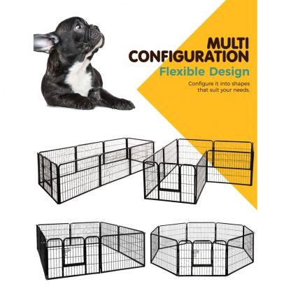 i.Pet 8 Panel Pet Dog Playpen Puppy Exercise Cage Enclosure Fence Play Pen 80x60cm