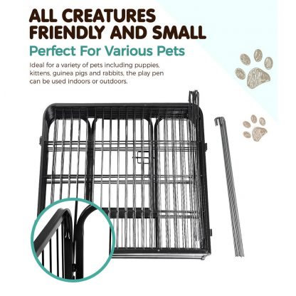 i.Pet 8 Panel Pet Dog Playpen Puppy Exercise Cage Enclosure Fence Play Pen 80x80cm